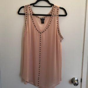 Torrid sheer blush tank blouse